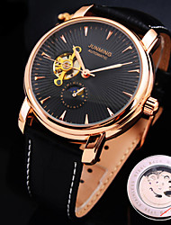 cheap -Men's Mechanical Watch Skeleton Watch Automatic self-winding Hollow Engraving Water Resistant Hot Sale Genuine Leather Band Charm