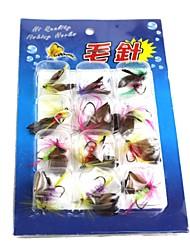 Мухи / рыболовные крючки / Рыболовная приманка Для рыбалки-12 штук Фантом Металл / ПВХ-N/AМорское рыболовство / Пресноводная рыбалка /