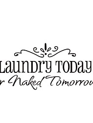 cheap -Laundry Today Or Naked Tomorrow Quote Wall Decals Zooyoo8032 Decorative Removable Vinyl Wall Stickers