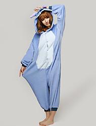 cheap -Kigurumi Pajamas Monster Blue Monster Onesie Pajamas Costume Polar Fleece Cosplay For Adults' Animal Sleepwear Cartoon Halloween Festival