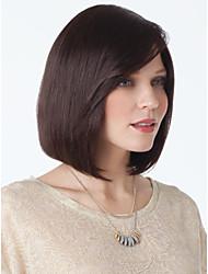 baratos -natural, sem tampa de alta qualidade cabelo mono reta curta topo humano perucas quatro cores para escolher
