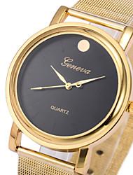 Недорогие -Женские Модные часы Кварцевый сплав Группа Золотистый бренд-