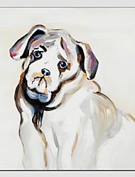 abordables -peinture à l'huile de style de chien cool, matériel de toile avec cadre étiré prêt à accrocher taille: 60 * 90cm.