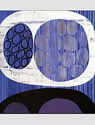 baratos -Pintura a Óleo Pintados à mão - Abstrato Estilo Europeu Modern Tela de pintura