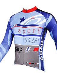 cheap -ILPALADINO Men's Long Sleeves Cycling Jersey - Sky Blue+White Bike Jersey, Quick Dry, Ultraviolet Resistant, Breathable