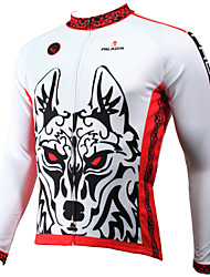 cheap -ILPALADINO Men's Long Sleeve Cycling Jersey - White Animal / Cartoon Bike Jersey, Quick Dry, Ultraviolet Resistant, Breathable Polyester / Stretchy