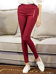 ts semplicità di base elastici Velet middle vita di caffè pantaloni jeans