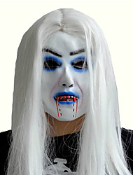 Недорогие -маскарад латекса террористической невесты с белой маске для волос