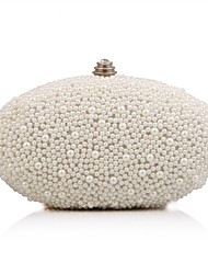 cheap -Women's Bags Polyester Evening Bag Imitation Pearl for Wedding Event/Party Formal Office & Career All Seasons White Beige