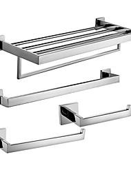 billige -Tilbehørssæt til badeværelset / Håndklædestang / Håndklædering / Toiletrulleholder / Håndklædevarmer / Rustfrit stål / Vægmonteret /