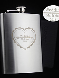 cheap -Stainless Steel Hip Flasks Groom Groomsman Parents Baby & Kids Wedding Anniversary Birthday Congratulations Graduation Thank You Business