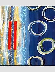 Pintados à mão Abstrato Quadrada, Modern Estilo Europeu Tela de pintura Pintura a Óleo Decoração para casa 1 Painel
