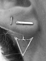 abordables -Femme Boucles d'oreille goujon - Or Argent Forme Géométrique Des boucles d'oreilles Pour