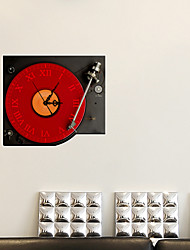 cheap -Music 3D Wall Stickers 3D Wall Stickers Decorative Wall Stickers Clock Stickers, Vinyl Home Decoration Wall Decal Wall