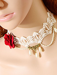 Fashion Big Flower Drip Pearl Necklace