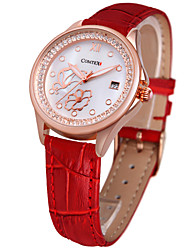 cheap -COMTEX fashion leather Diamond Ladies quartz watch