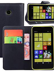 abordables -Funda Para Nokia Lumia 925 / Nokia Lumia 630 / Nokia Funda Nokia Cartera / Soporte de Coche / con Soporte Funda de Cuerpo Entero Un Color Dura Cuero de PU para