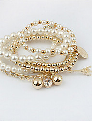 cheap -Masoo Women's Fashion Hot Selling High Quality Tower Multi-layer Pearl Bracelet