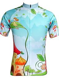 economico -JESOCYCLING Maglia da ciclismo Per donna Manica corta Bicicletta Maglietta/Maglia Top Abbigliamento ciclismo Asciugatura rapida