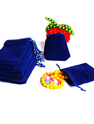 cheap -Beadia 50Pcs  7x9cm Royal Blue Velvet Pouch Wedding Gift Bag Drawstring Jewelry Packaging