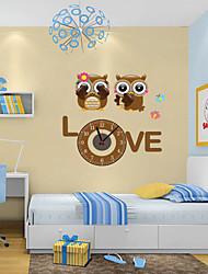 abordables -Moderne/Contemporain Animaux Personnages Inspiré Mariage Famille Amis Horloge murale,Nouveauté Plastique Autres Intérieur/Extérieur