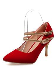 Da donnaCasual-Tacchi / A punta-A stiletto-Finto camoscio-Nero / Blu / Rosso