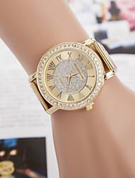 baratos -Mulheres Relógio de Pulso imitação de diamante Lega Banda Brilhante Dourada