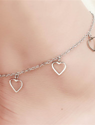 cheap -Others / Heart Silver Plated Anklet - Women's Unique Design / Love / Fashion Anklet For Party / Daily / Casual