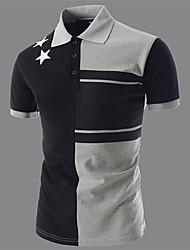 男性用 半袖 ポロシャツ , コットン カジュアル/オフィス