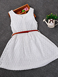 cheap -Kid Grils Fashion Sleeveless Cosplay Dress Summer Style Girl Lace  Dresses (Cotton/Blend) For SZ 2-6 Y