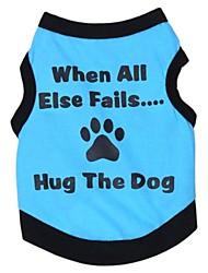 economico -Gatto Cane T-shirt Abbigliamento per cani Lettere & Numeri Grigio Verde Blu Rosa Cotone Costume Per animali domestici Cosplay