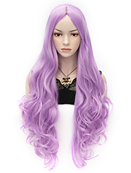 cheap -80cm Party Cosplay Party Wig Lilac Light Purple Long Curly Wig  For Halloween