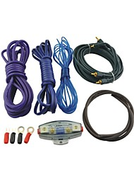 automobile l801 rca audio kit di cablaggio amplificatore con portafusibile