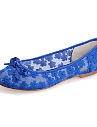 cheap -Women's Shoes  Flat Heel Round Toe Flats Wedding/Party & Evening Black/Blue/Pink/Ivory/White