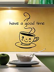 Недорогие -наклейки стены стиль наклейки имеют хорошее время английские слова&цитирует наклейки ПВХ стены