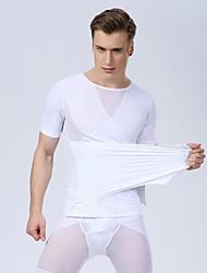 Недорогие -сексуальные мужчины корсет мужчин тонкий корпус формирователь талии живота нижнее белье для похудения рубашка тренажерный зал майка