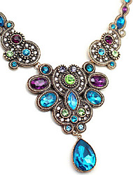 Women's Pendant Necklaces Drop Synthetic Gemstones Imitation Diamond Alloy European Jewelry For