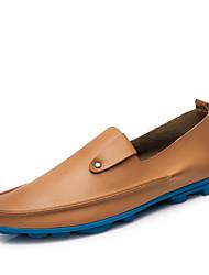 abordables -Homme Chaussures Cuir Printemps / Automne Chaussures de plongée Mocassins et Chaussons+D6148 Noir / Beige