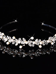 cheap -Sterling Silver Alloy Headbands Flowers Wreaths Headpiece Elegant Style