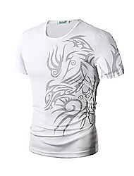 cheap -Team Printed T Shirts Men Short Sleeve Sport Man T-Shirt O Neck Top Tees