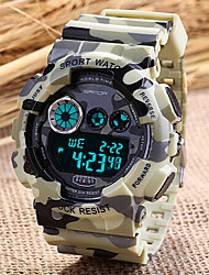 SANDA® Men's Sport Watch Fashion Camouflage Military Design Digital Display Calendar/Chronograph/Alarm/Water Resistant Wrist Watch Cool Unique Watch