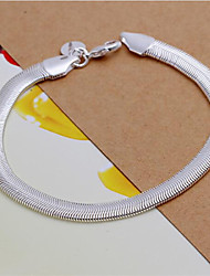 cheap -Bracelet/Chain Bracelets Sterling Silver Wedding / Party / Daily / Casual Jewelry  White,1pc Christmas Gifts