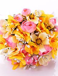"""Bouquets de Noiva Redondo Buquês Casamento Festa / noite Cetim 11.8""""(Aprox.30cm)"""