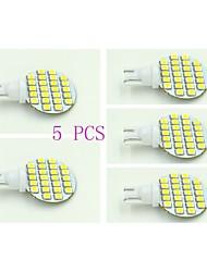 preiswerte -T10 Instrumententafel-Leuchten 24 Leds SMD 3528 Natürliches Weiß 100-120lm 5500-6000K DC 12V
