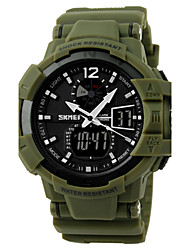 cheap -SKMEI® Men's Military Design Sport Watch Analog-Digital Dual Time Zones/Calendar/Chronograph/Alarm Cool Watch Unique Watch