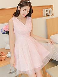 cheap -Women's Casual Micro-elastic Sleeveless Maxi Dress (Chiffon/Knitwear)