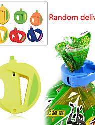 Set of 3 Kitchen Storage Bag Clip Fresh Food Seal Stick Zip Organizer (Random Color)