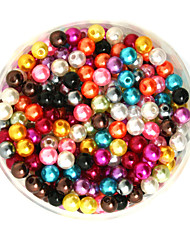 cheap -Beadia 100g(Approx 1000Pcs)  ABS Pearl Beads 6mm Round Mixed Color Plastic Loose Beads For DIY Jewelry Making