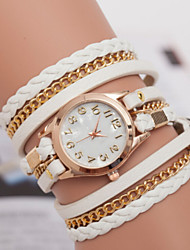 Women's Watch Marble Mirror Diamond Ladies Bracelet Watch Hand Woven Three Ring Winding Watch Retro Cool Watches Unique Watches