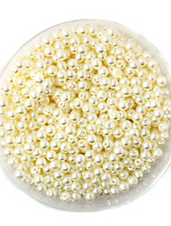 cheap -Beadia 58g(Approx 2000Pcs)  4mm Round ABS Pearl Beads Ivory Color Plastic Beads